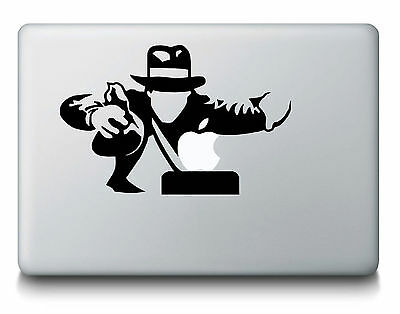 "Sticker Decal Macbook Indiana Jones Neuf Air/pro 11""/13""/15""/17"""