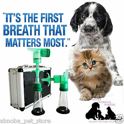 One Puff Puppy & Kitten Aspirator / Resuscitator Kit - Stimulates First Breath