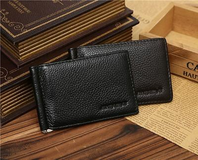 Men/Women's Money Clip Thin Wallet  ID Fold Credit Card Holder Case Leather Gift