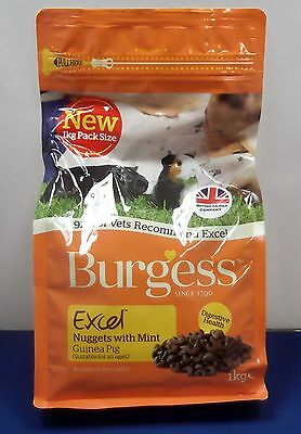 Burgess Excel Guinea Pig Nuggets With Mint Tasty Pet Food Complete Mix 1Kg
