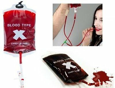 Blood Candy In 100g Transfusion Bag Drip Choose 1 Or 12 Halloween Horror Sweets