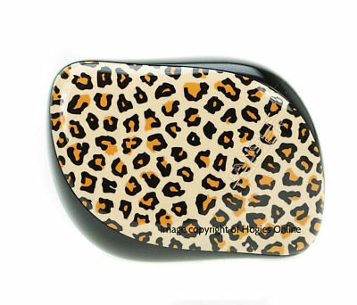 Tangle Teezer Compact Black & Leopard Print Design Hairbrush