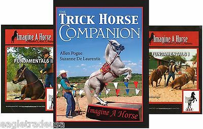 Trick Training Fundamentals 2 DVDs & Trick Horse Companion Book by IMAGINEAHORSE