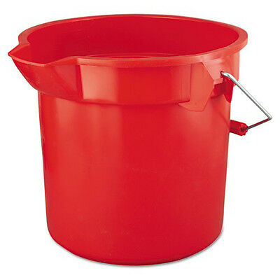 Rubbermaid BRUTE 14 Qt. Round Utility Pail (Red) 2614RED NEW