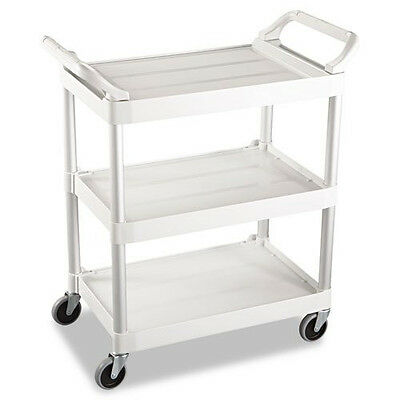 Rubbermaid 200 lb. Capacity Service Cart (Off-White) 342488OWH NEW