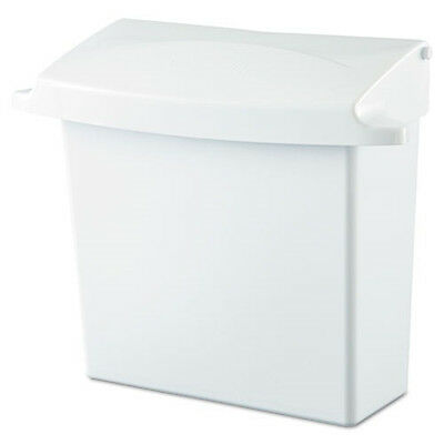 Rubbermaid Plastic Sanitary Napkin Receptacle w/Rigid Liner (Wh) 614000 NEW