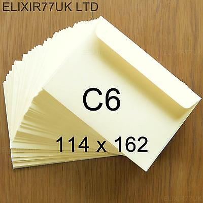 C6 A6 100gsm QUALITY IVORY ENVELOPES CARDS PAPER INVITATIONS WEDDING PARTY CRAFT