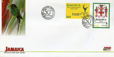 Jamaica 2012 FDC 50th Anniv of Independence 1962-2012 2v Set Cover Coat of Arms