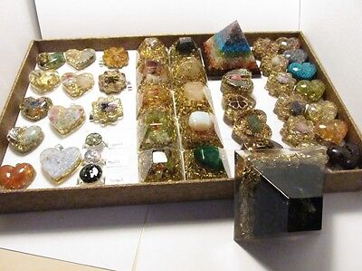 ORGONE set for HEALERS - 44 PIECES of orgonits with natural gemstones