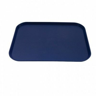 12x Tray, Fast Food Style, Blue Polypropylene, Cafeteria, 350 x 450mm