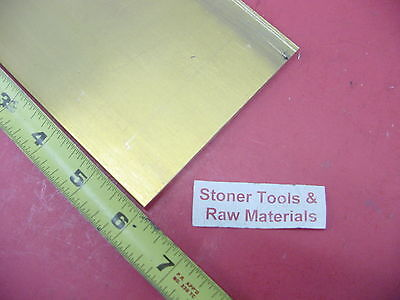 "1/4"" x 4"" C360 BRASS FLAT BAR 6"" long Solid .250"" Mill Stock H02"