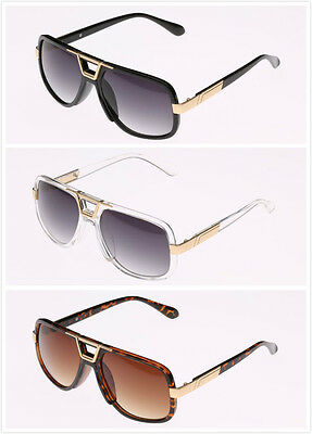 DMC Square Gazelle Style Gold Frame Fashion Glasses Accents Old School DJ Rap