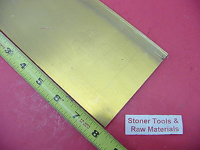 "1/4"" x 4"" C360 BRASS FLAT BAR 8"" long Solid Mill Stock H02 .25""x 4.00""x 8"""