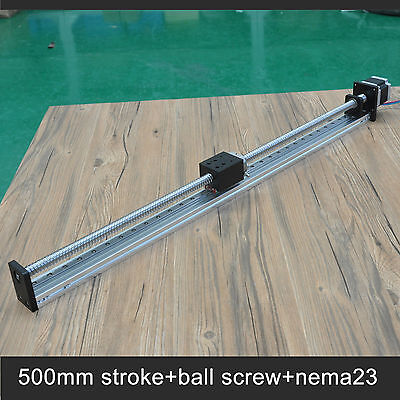 Free shipping 500mm stroke Ball screw Cnc Linear Guide Actuator For Printer