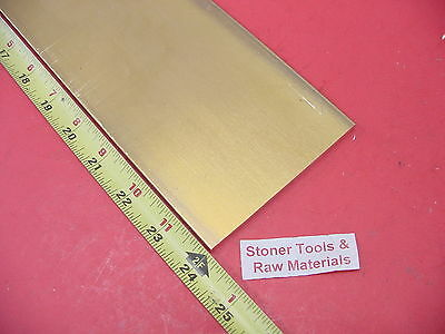 "1/4"" x 4"" C360 BRASS FLAT BAR 24"" long Solid .250"" Mill Stock H02 .250"" thick"