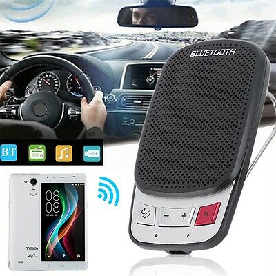 Portable Multipoint Wireless Bluetooth Handsfree Car Sun Visor Speaker Phone OK