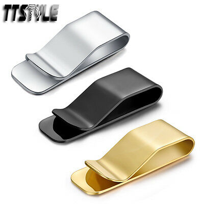 High Quality Thick TTstyle 316L Stainless Steel Money Clip 3 Colours NEW