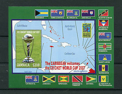 Jamaica 2007 MNH ICC Cricket World Cup Caribbean West Indies 1v S/S Trophy