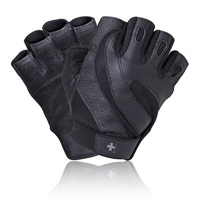 Harbinger Pro Wash and Dry Mens Black Weightlifting Training Gym Fitness Gloves