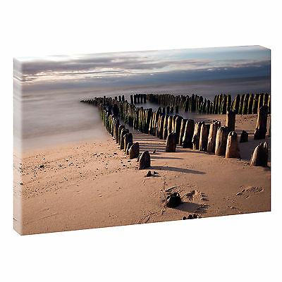 bild auf leinwand fensterblick nordsee strand meer poster. Black Bedroom Furniture Sets. Home Design Ideas