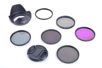 AU local 11PCS UV CPL FLD ND Filter KIT 58mm +Cleaning set For Canon Nikon Fuji