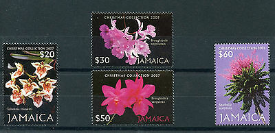 Jamaica 2007 MNH Christmas 4v Set Orchids Flowers Flora Broughtonia