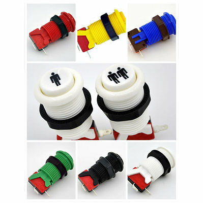 multicolor Arcade Long Happ Style Push Button with Micro-switch 4.8mm Jamma Mame