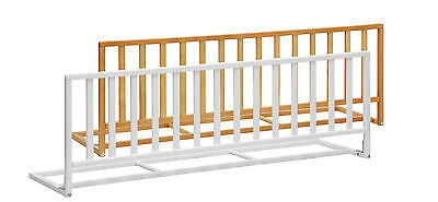 Bedrail PINO white or beech 3.9 ft - 120 cm wooden Child Bed Baby Guard Safety