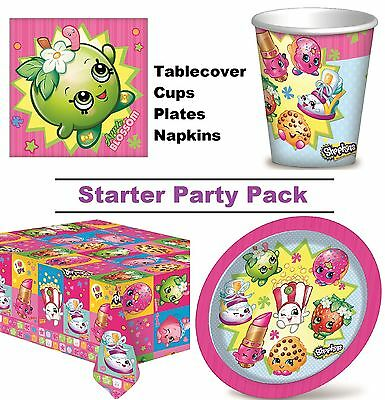 Shopkins 8-48 Guest Starter Party Pack - Cup | Plate | Napkin | Tablecover