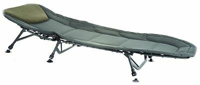 Brand New Comfort 6 Leg Delux Bedchair With Built In Pillow For Carp Fishing
