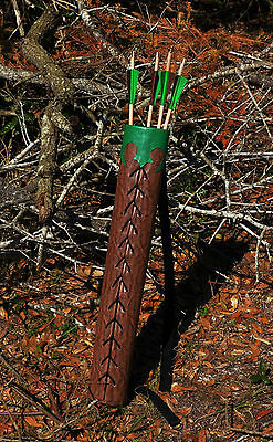 Celtic Green Wood Quiver and Arrows