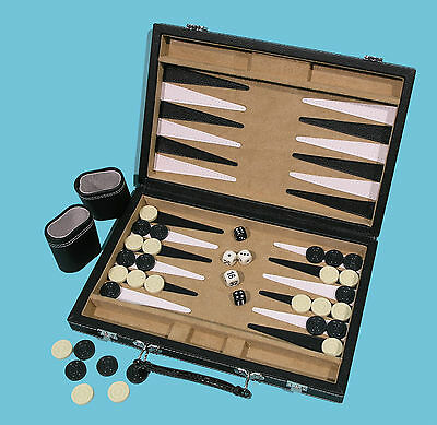 Leatherette Backgammon Set - Ref: 00458