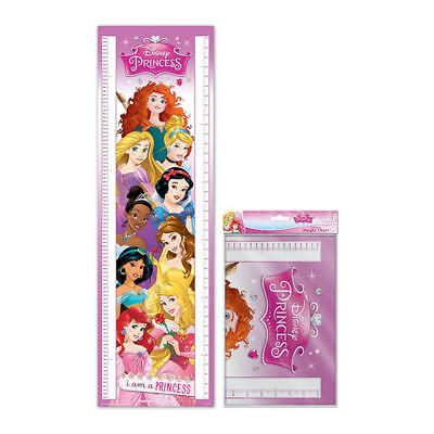 Disney Princesses 1.6 Metre Height Chart Wall Poster 5 Foot 3 Kids Ariel Belle
