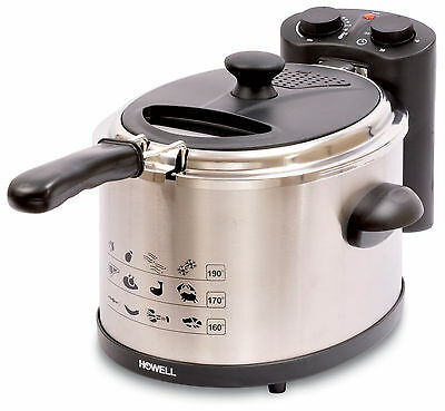 Rotex - Howell Friggitrice Professionale Acciaio Inox 2300 W Fra 3501 3,5 Lt