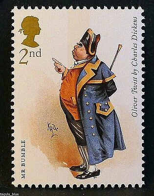 """""""Mr Bumble"""" (Oliver Twist) illustrated on 2012 Stamp - Unmounted Mint"""