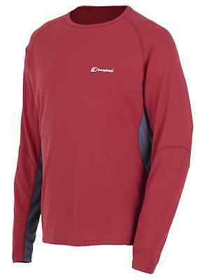 Berghaus mens gents tech tee long sleeve crew neck quick dry base layer top