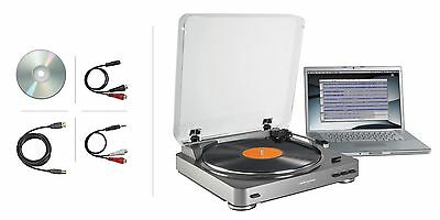 Audio-Technica AT-LP60-USB Turntable Silver LP-to-Digital ATLP60USB