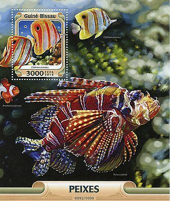 Guinea-Bissau 2016 MNH Fishes 1v S/S Fish Copperband Butterflyfish