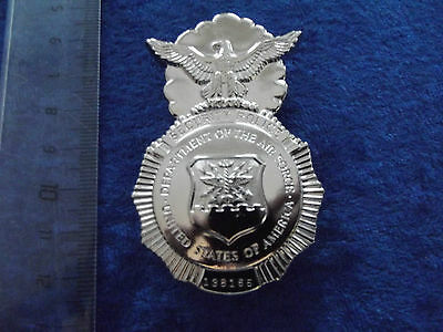 (A2-F111) US Badge Air Force, Air MP Security mit Nummer Original