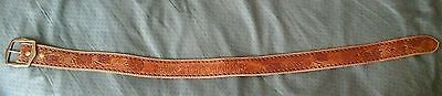 Abercrombie Leather Belt Tooled Western Brown Small Child Youth Kids Accessory