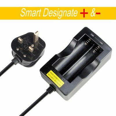 Dual Energy Rechargeable For 18650 3.7V Li-ion Battery Adapter Charger UK