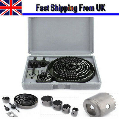 1Set 16ps Hole Saw Cutting Kit Metal Circle Drill Wood Alloy Downlights 19-127mm