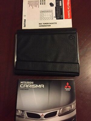 MITSUBISHI CARISMA HANDBOOK + AUDIO GUIDE + WALLET years 1995 1996 1997 1998