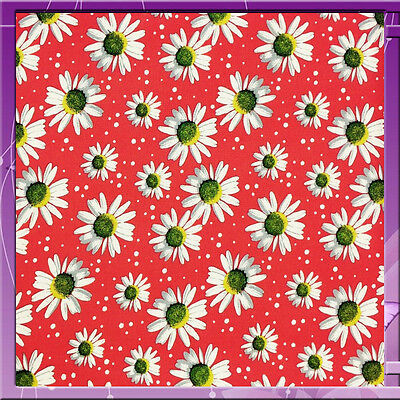 100% Rayon Challis Flower  Floral Margaritas Fabric 58 Wide Orange