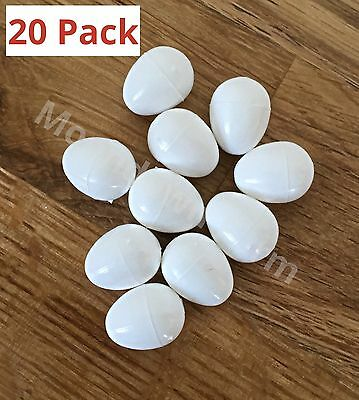20 X Dummy Eggs For Canary, Finches Cage & Aviary Birds Finch White Egg