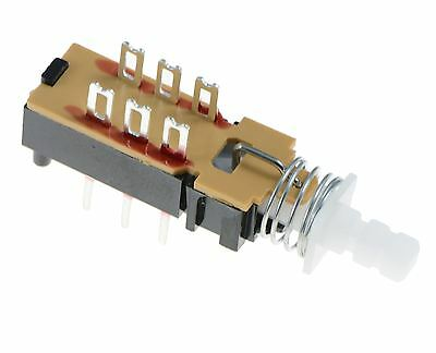 10 x DPDT Changeover Push Button Latching PCB Switch