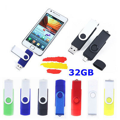 Pendrive Otg Memoria Usb 2.0 Pen Drive 32Gb 32 Gb Para Móvil Tablet Android