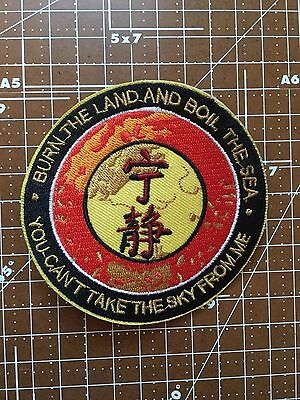 """SERENITY/FIREFLY """"Burn the Land ... You Cant Take The Sky From Me"""" 3.5""""  Patch"""