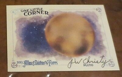James Christy astronomer signed autographed card disc Pluto moon Charon