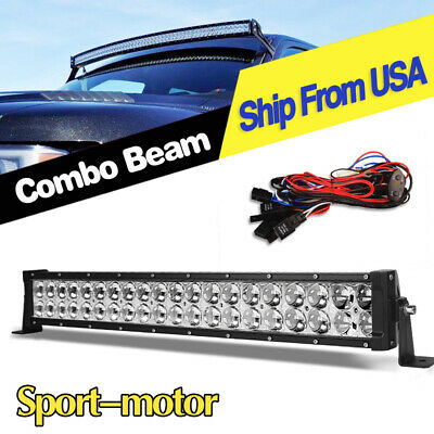 24inch 280W LED Light Bar Curved Spot Flood Offroad Jeep Truck 4WD ATV Boat 22''